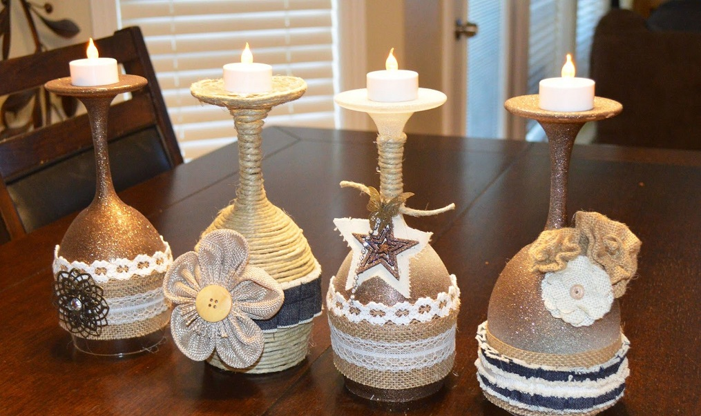 DIY Christmas candle holders