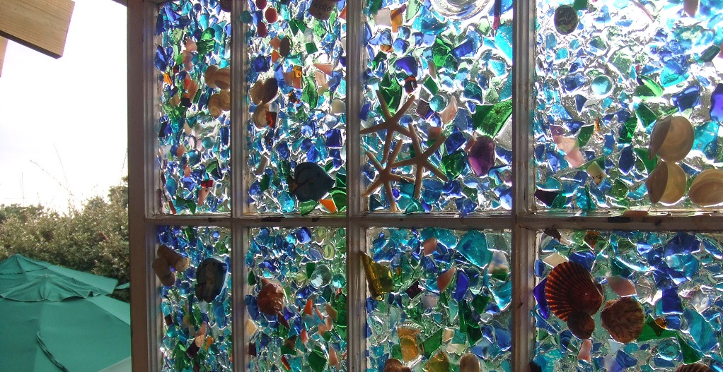 broken glass crafts